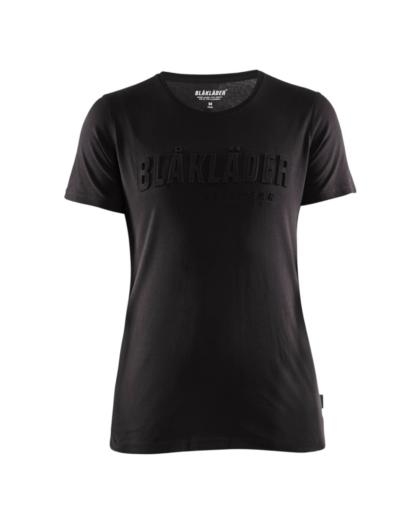 Blåkläder 3431 Naisten T-paita 3D Musta